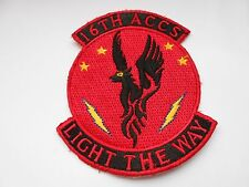 American aviation squadron cloth patch  16th accs   light the way