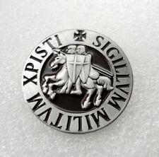 ZP159 Knights Templar Seal Crusader St George Biker Crusade Cross Pin Badge