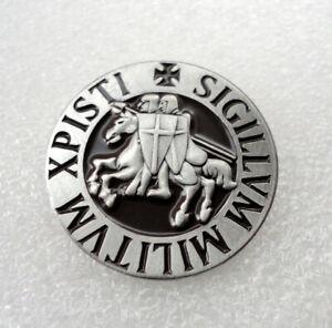 ZP159a Knights Templar Seal Crusader St George Biker Crusade Cross Pin Badge