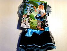 Girls 2T Turquoise Zebra Zoo Tutu Halloween Costume Trick or Treat Costume