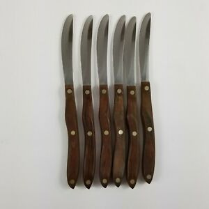 Lot Of (6) Vintage CUTCO Table Steak Knives Knife Classic No. 59