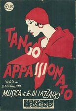 Spartito musicale TANGO APPASSIONATO versi CHERUBINI ed Bixio