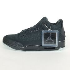 Jordan 3 Retro Flyknit Sneakers Limited Black Anthracite DS Mens 9.5 AQ1005 001