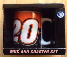 2005 Tony Stewart #20 Car Nascar Coffee Mug and Coaster, New In Box, Vintage