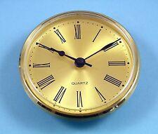 Reloj de cuarzo Mega-Bisel 100mm de Cuarzo de oro Movimiento de inserción Cuadrante Romano