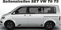 VW T6 T5 Seitenstreifen Set BLANKO NEU 1 farbig Wunschfarbe