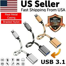 Type C USB-C 3.1 Male To USB 3.0 Type A Female OTG Converter Adapter Cord Cable