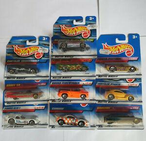 Hotwheels Job Lot 10x Short Card Vehicles from 90s Mini Collection Rare HTF BNIP