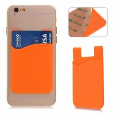 Silicone Wallet Credit Card Cash Sticker Adhesive Holder Case For iPhone Samsung