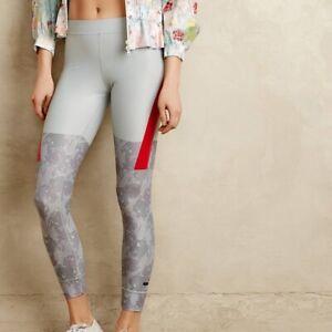 ADIDAS STELLA MCCARTNEY Techfit Gray/Red Floral Workout/Gym/Running Legging, S