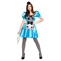 NEW Storybook Alice in Wonderland Fairytale Ladies Fancy Dress Halloween Costume