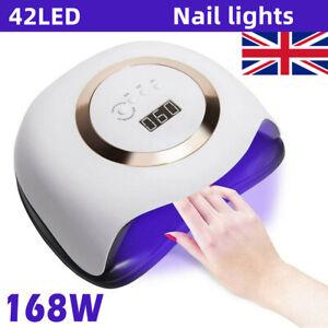 168W Nail Lamp UV Tool 42LED Professional Polish Dryer Gel Acrylic Curing Lights