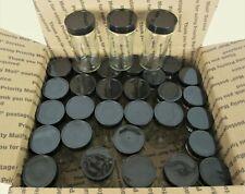 Lot 23 Clean Empty 3.5oz Clear Glass Spice Jars Bottles w/Lids No Glue or Labels