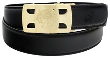 QHA Mens Automatic Ratchet Belt For Men Fashion Tiger Buckle Casual Waist Gift