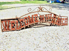Metal Welcome to the RANCH Sign Wall Entry Gate 44 3/4 inch
