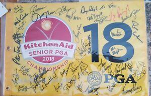 2018 Signed Autograph Senior PGA Flag Kitchen Aid Harbor Shores Benton Harbor
