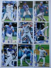 2020 Topps Series 1 Kansas City Royals Base Team Set 9 Baseball Cards