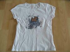 CHIPIE schönes Shirt m.Druck weiß Gr. 8 J. TOP (KJ814)