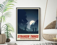Stranger Things Movie Poster, Modern Wall Art Print