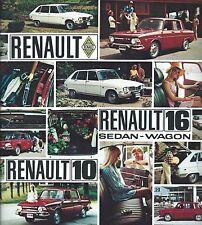 Auto Brochure - Renault - 10 - 16 Sedan Wagon - c1969 (A1014)