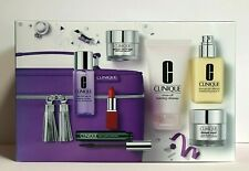 Best Of Clinique Gift Set Purple Cosmetic Bag + 8 Best Sellers Ddl Mascara Lips