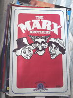 THE MARX BROS 1 SHEET MOVIE POSTER HEAVY PAPER