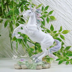 Unicorn Rearing Ornament Figurine Sculpture Statue Fantasy Myth Home Gift 16cm