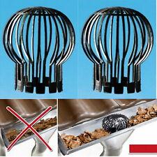 2 Stück Fallrohrschutz Laubstopp Regenrohrschutz Dachrinnenschutz Laubschutz