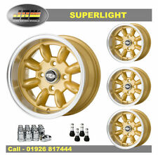 7x 13 Superlight Wheels CLASSIC FIAT 4 X 98 Lot de 4 Gold