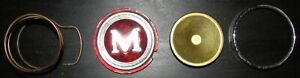 MORRIS MINOR 1000 STEERING WHEEL HORN PUSH BUTTON LATE TYPE BADGE ASSEMBLY