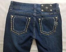 Miss Me Skinny Fit Womens Denim Blue Jeans Size 25 x 32 Boot Cut Dark Wash Low