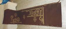 ancien french textile tenture broderie sur feutrine décor renaissance 17e / 2