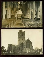 Somerset WEDMORE St Mary's Church 2 early RP PPCs