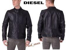 NWT Diesel Mens MOTORCYCLE Genuine Leather RACER BLACK Jacket X-LARGE $698