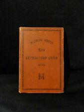 Letteratura  Greca – Inama– Manuali Hoepli – 4°ediz. Editore Librajo Milano 1885