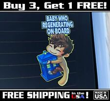 Doctor Who Baby On Board, Baby 10th Doctor Bumper Sticker, Decal