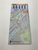 Vintage February 1995 Bronx Bus Map by the New York City Transit Authority