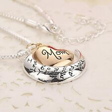 Mothers Gift Necklace & Pendant  I Love You To The Moon & Back Best Gift for mom