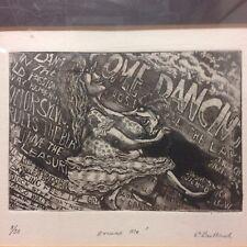 """Stan Bullard Signed etching """"Excuse Me !"""" Ltd 5/50"""