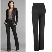 Cabi Womens Pants Size 4 Black High Rise Wide Camden Trouser Stretch Ponte