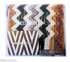 MISSONI HOME BRANDED PACK TWO FACE TOWELS SET PAUL 160 - MADE IN ITALY LABEL