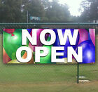 NOW OPEN Advertising Vinyl Banner Flag Sign LARGE SIZES! BUSINESS SIGNS USA