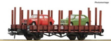 Roco 76764 HO Gauge PKP Stake Wagon with Fiat 127 Load IV