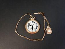 1920s Illinois 21 Jewel Double Sunk Pocket Watch Bunn Special 4916116 runs but..