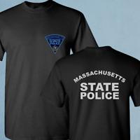New Massachusetts State Police Department SWAT Black T-Shirt