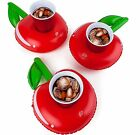 3-pk CHERRY Beverage Boat Inflatable Cup Drink Can Holder Pool Float - BigMouth