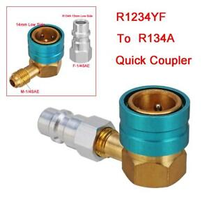 R1234YF to R134A Low Side Quick Coupler Adapters Car Air-conditioning Fitting UK