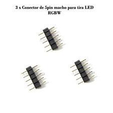 3 x Conector de 5pin macho para tira LED RGBW