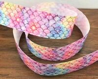 Ombre 1.5 INCH GROSGRAIN RIBBON Hair Bow Supplies Wholesale Mermaid Scales