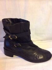 Naturalizer Black Ankle Leather Boots Size 7